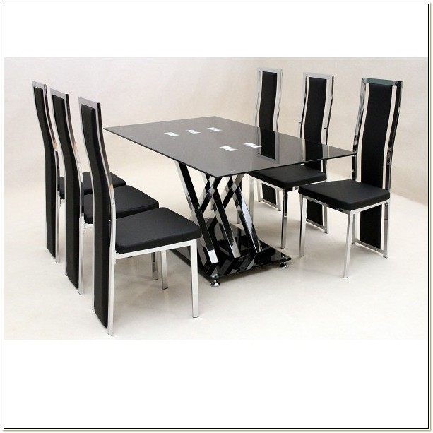 Black Dining Room Chairs Set Of 6