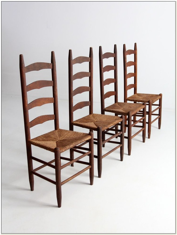 Black Ladder Back Chairs With Rush Seats