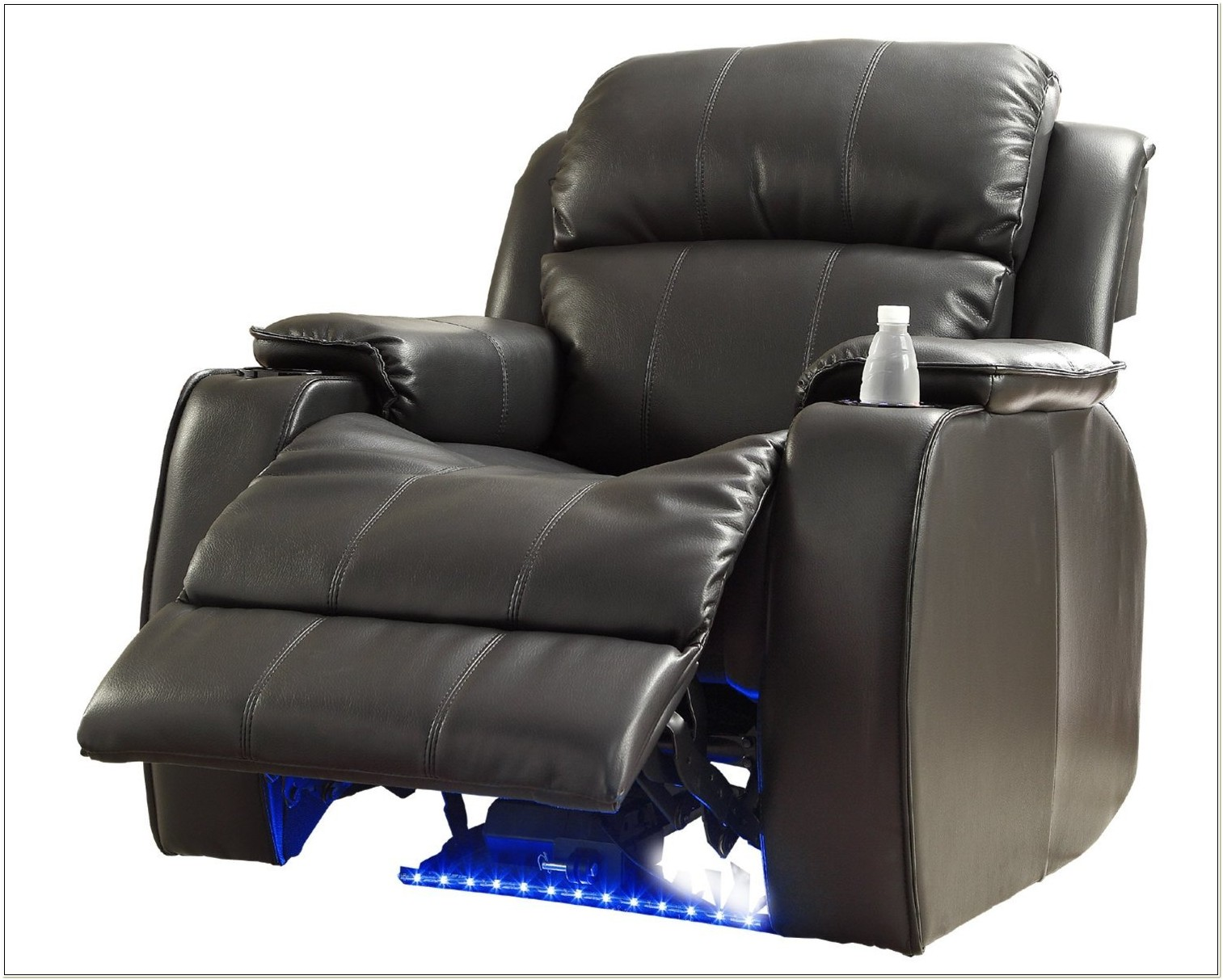 Black Leather Electric Recliner Chair