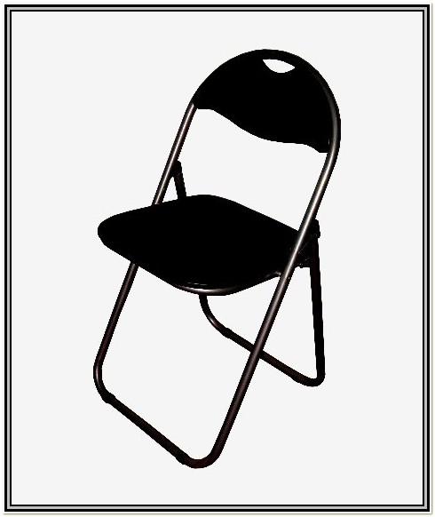 Black Metal Folding Chairs Bulk