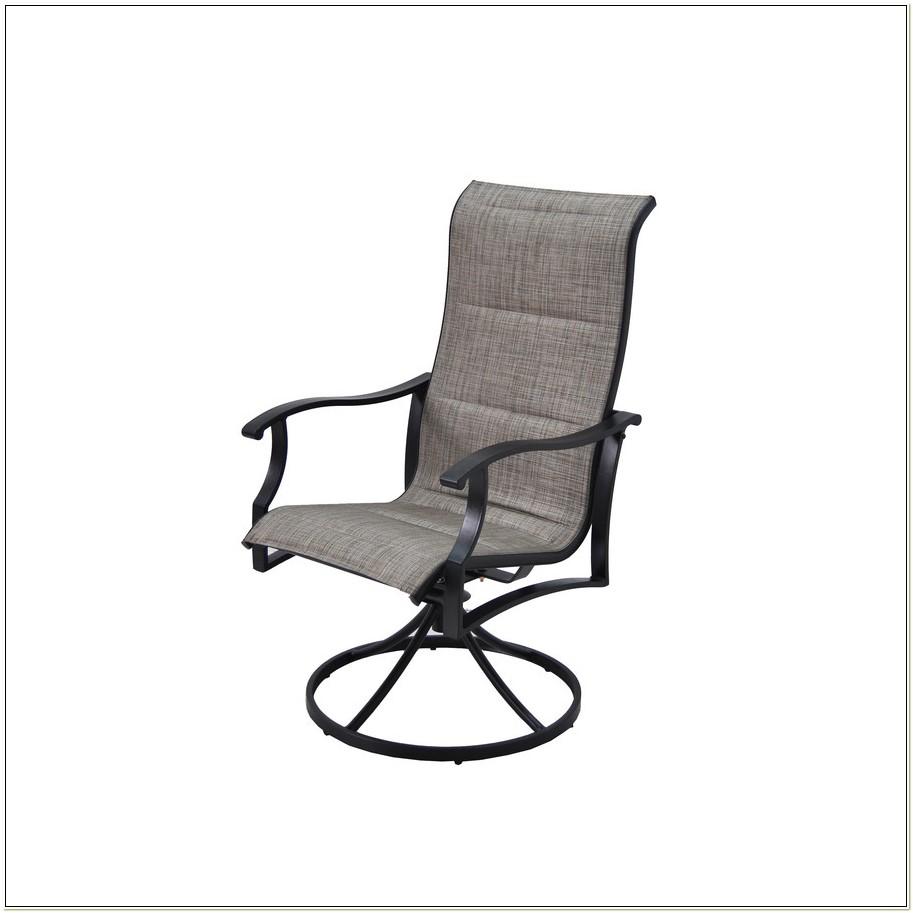 Black Sling Swivel Patio Chairs