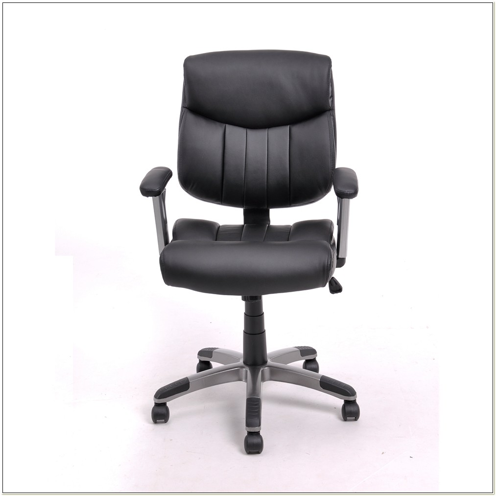 Boss Leather Adjustable Task Chair Without Arms