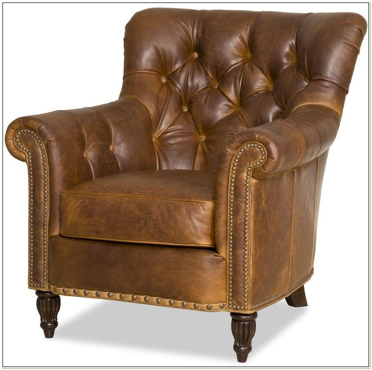 Bradington Young Leather Recliner Club Chair
