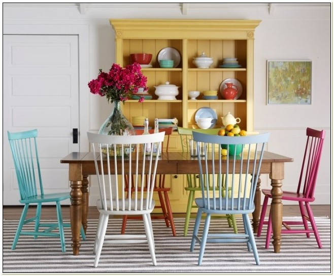 Bright Colored Dining Room Chairs