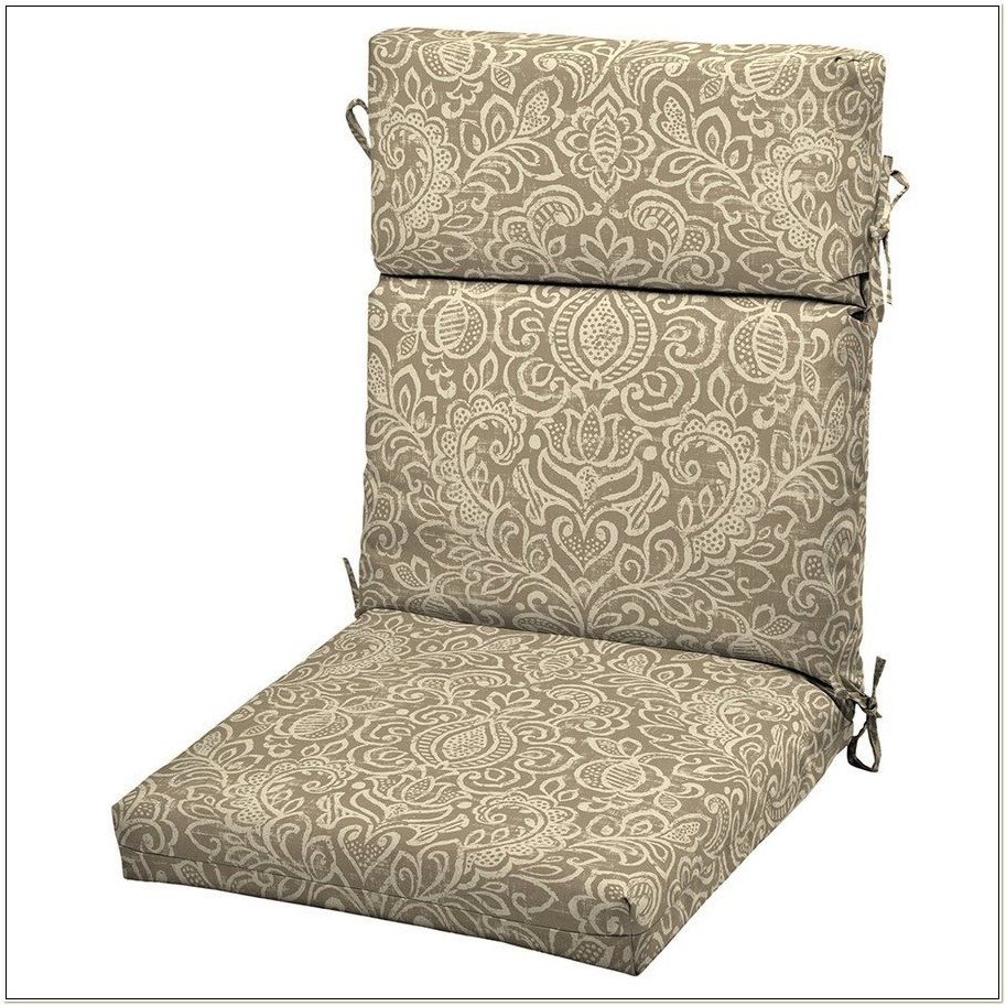 Brown High Back Outdoor Chair Cushions