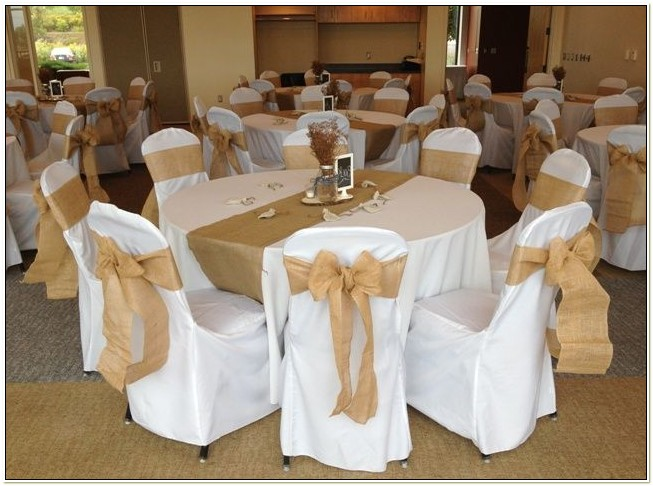 Burlap Sashes For Wedding Chairs