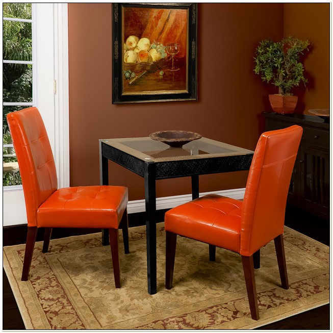 Burnt Orange Leather Dining Chairs