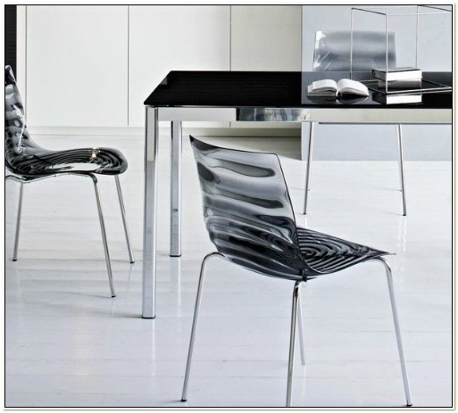 Calligaris Leau Stackable Chair Clear