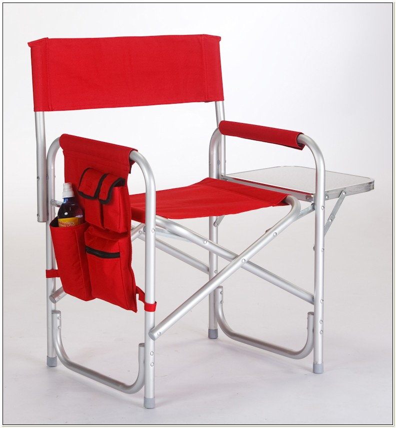 Camping Directors Chair With Side Table