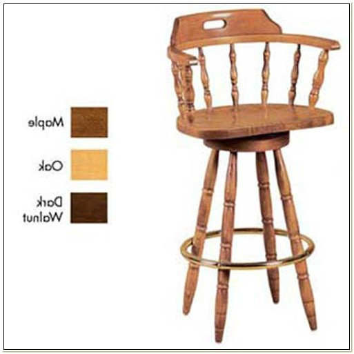 Captain Chair Bar Stool With Swivel
