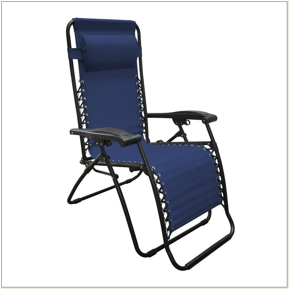 Caravan Oversized Zero Gravity Chair Blue
