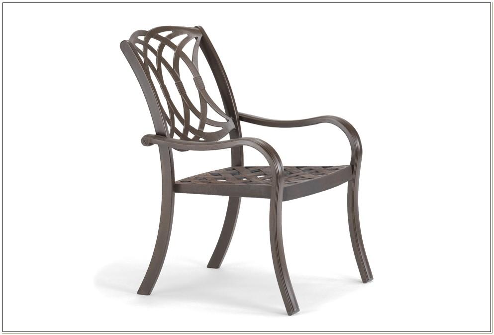 Cast Aluminum Stackable Patio Chairs
