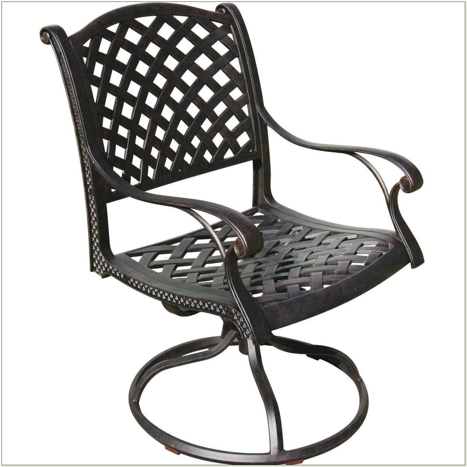 Cast Aluminum Swivel Rocker Patio Chairs