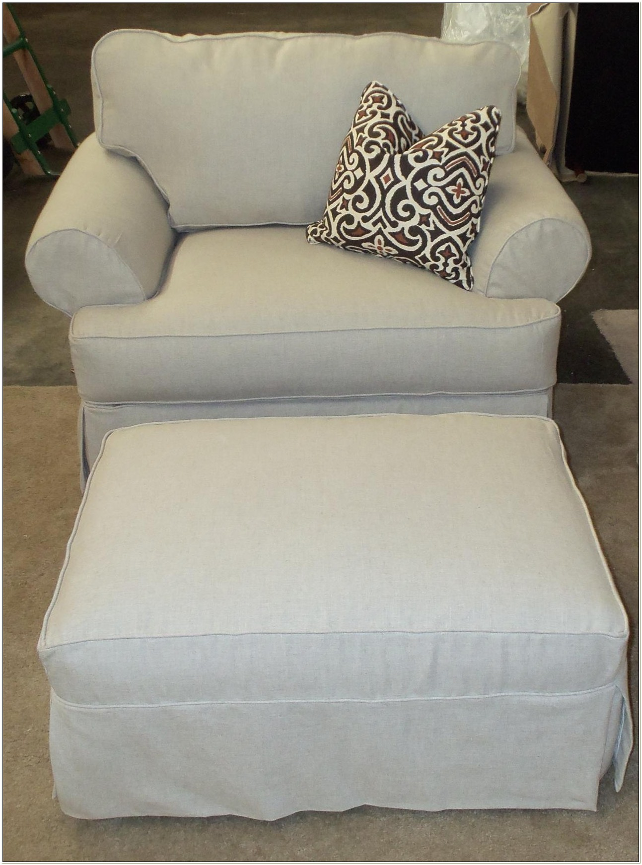 Chair And A Half Slipcovers Ottoman