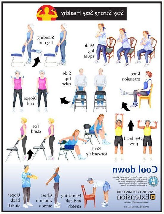 Chair Based Exercises For The Elderly Training