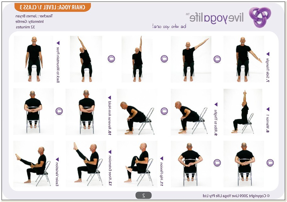 Chair Yoga Poses For The Elderly