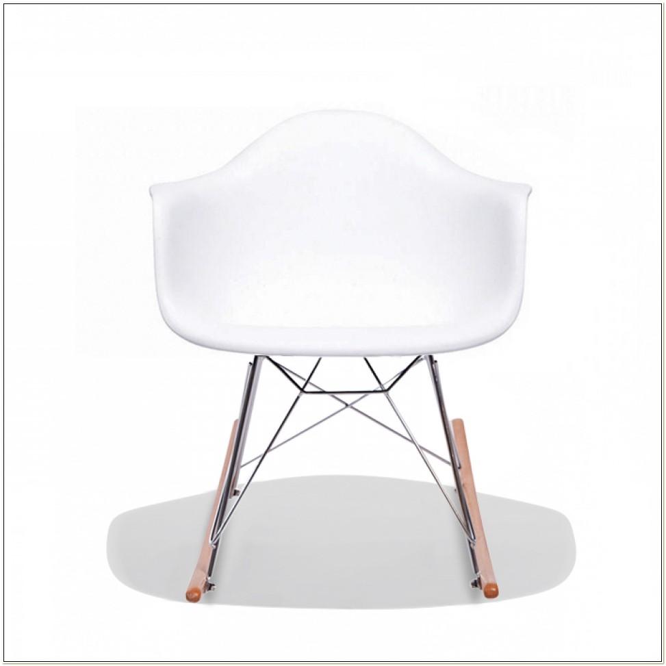 Charles Eames Rar Plastic Rocking Chair White