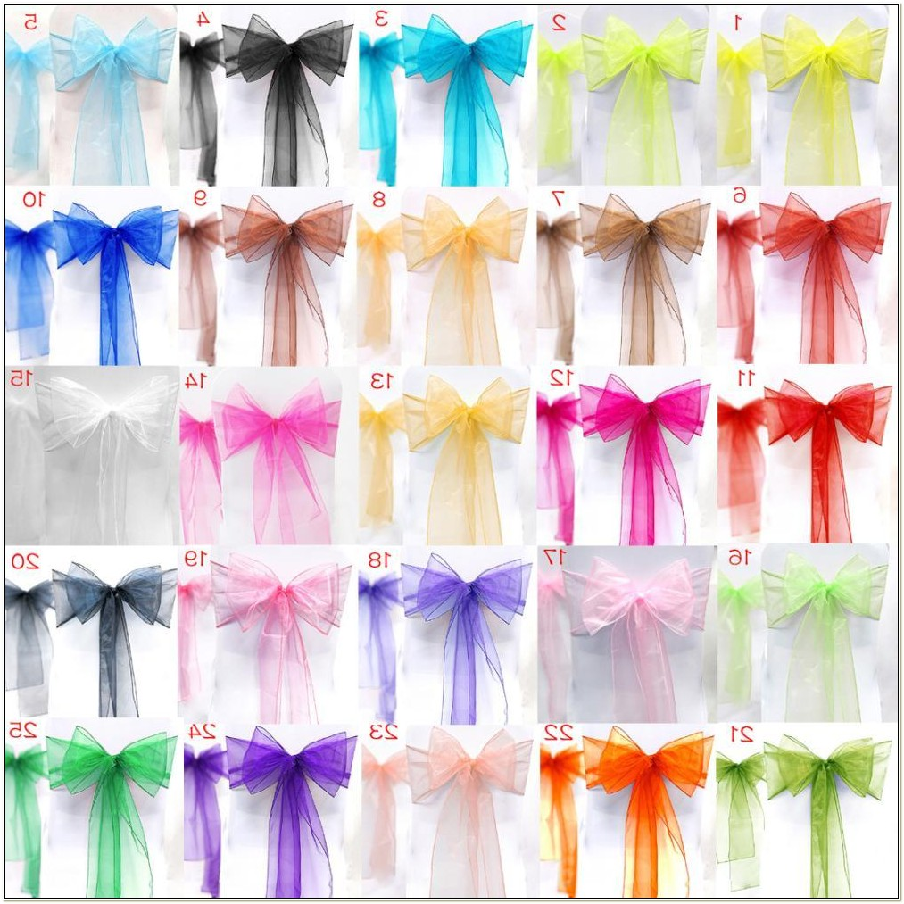 Cheap Organza Sashes For Chairs