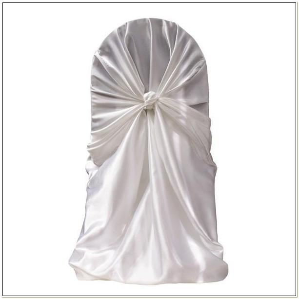 Cheap White Satin Universal Chair Covers