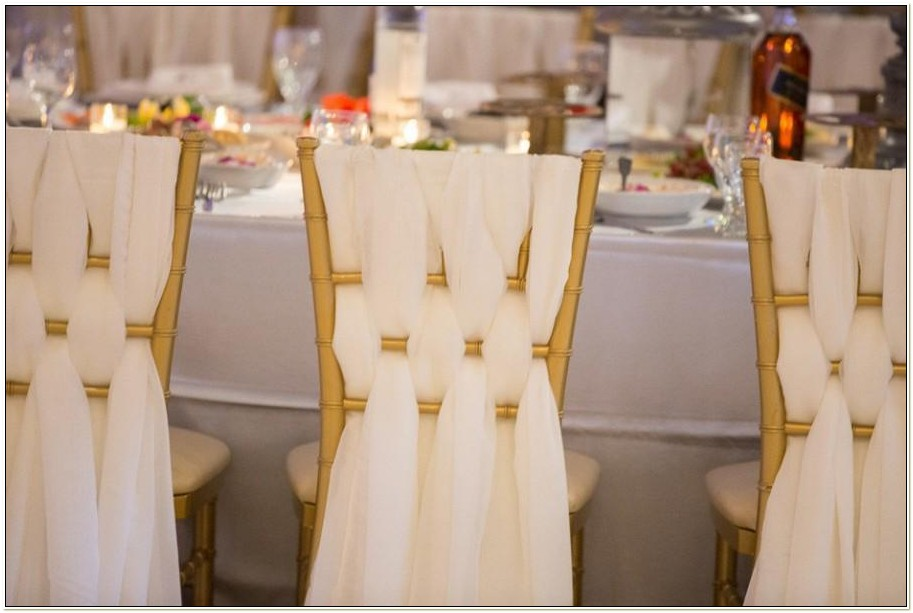 Chiavari Chairs With Sashes