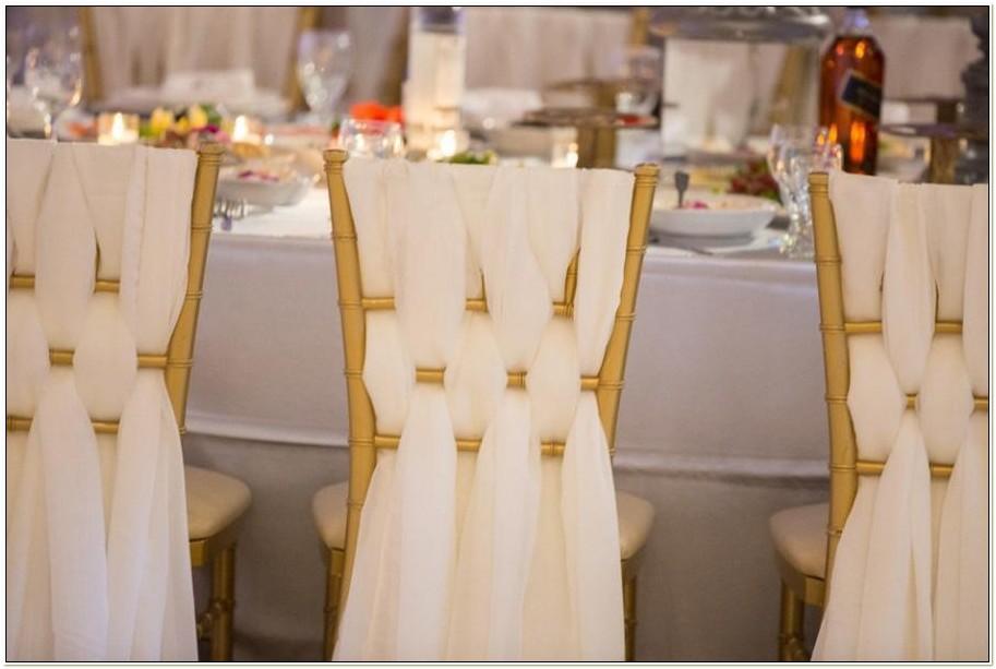 Chiavari Chairs With Sashes