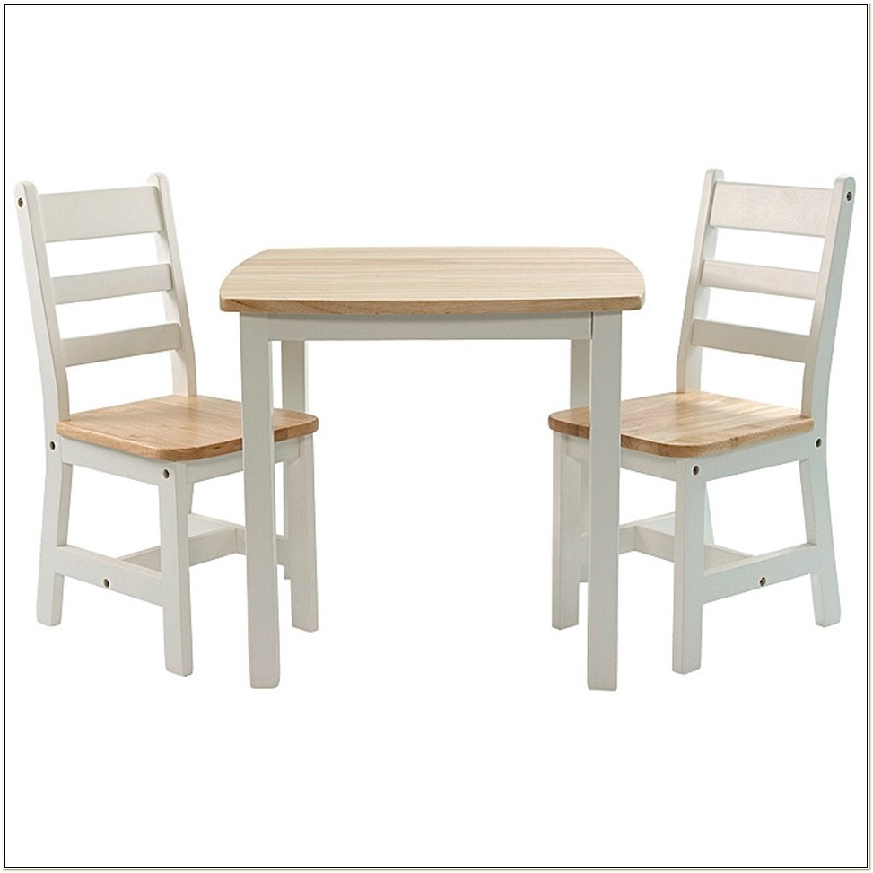 Child Wood Table And Chairs Set