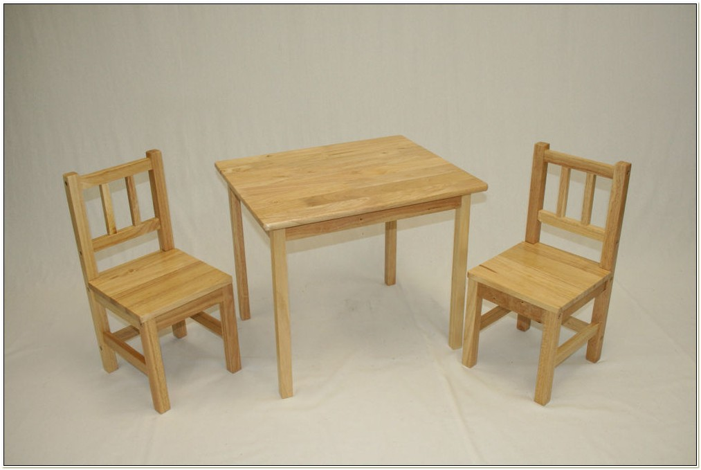 Child Wood Table And Chairs
