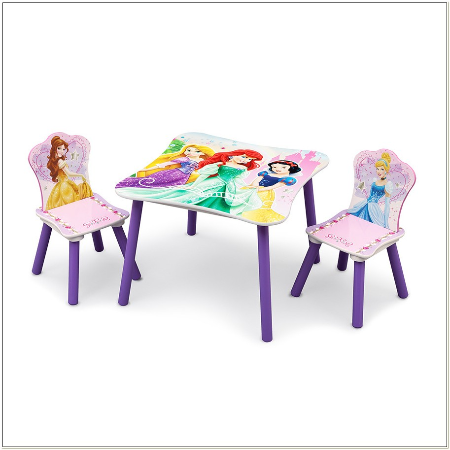 Childrens Disney Princess Table And Chair Set
