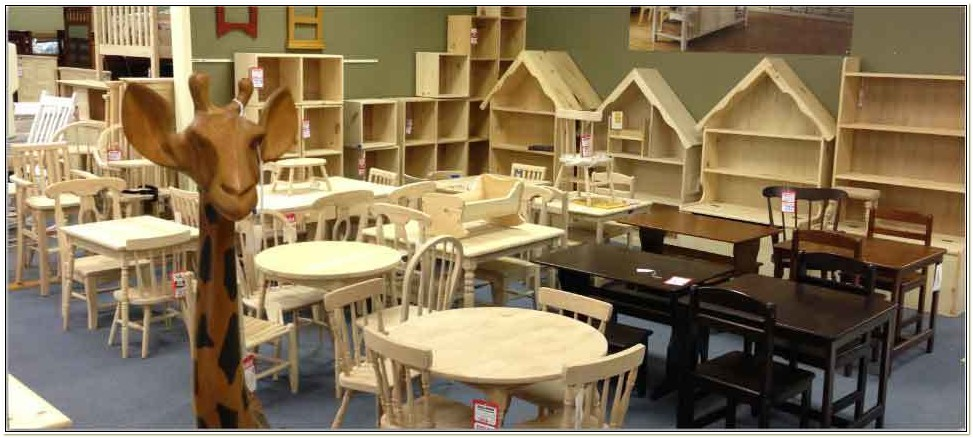 Childrens Unfinished Wood Table And Chairs