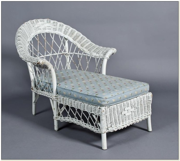 Childrens White Rattan Chair