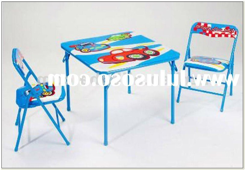 Childs Folding Table And Chair Set