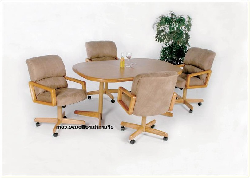 Chromcraft Chairs With Casters