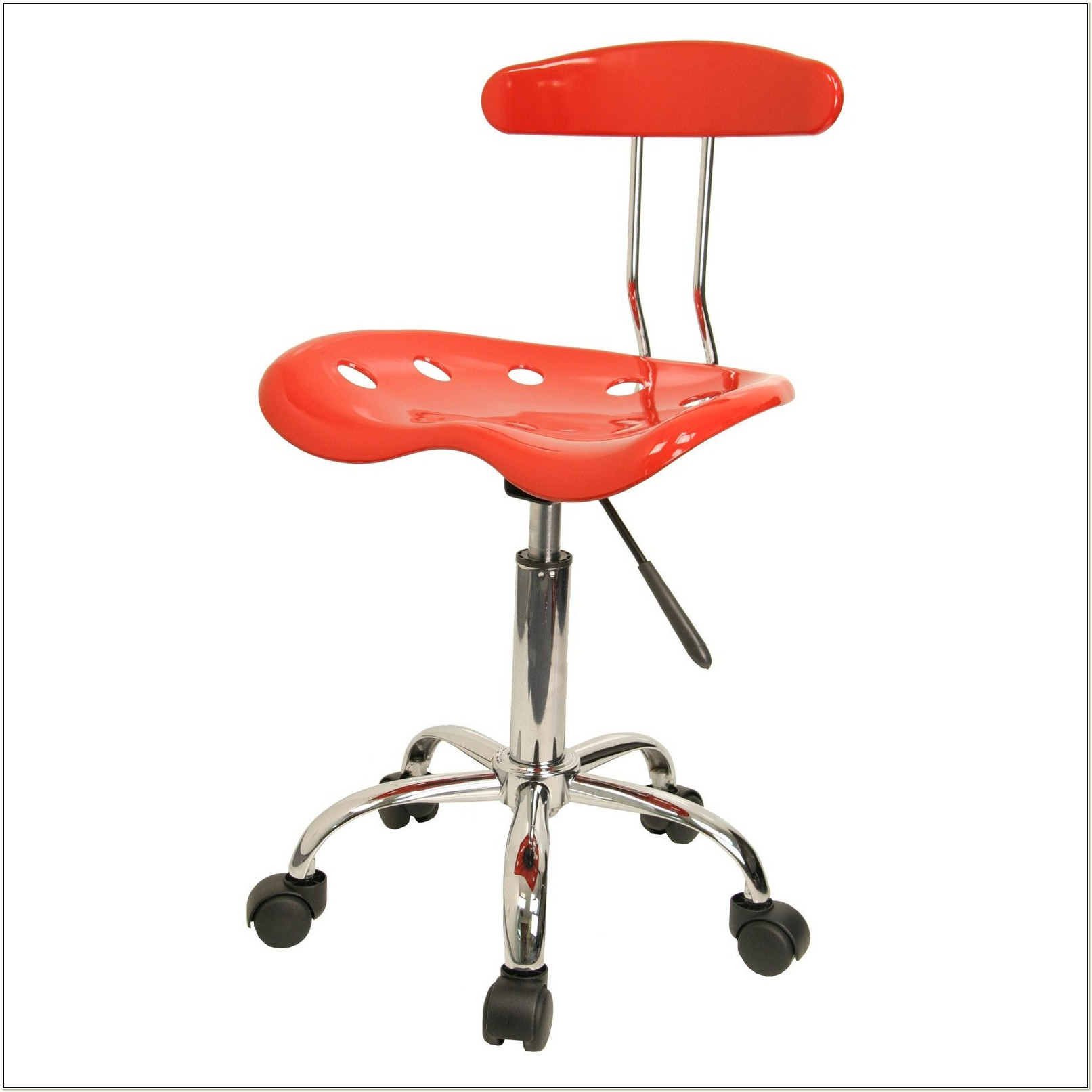 Chrome Computer Task Chair With Tractor Seat