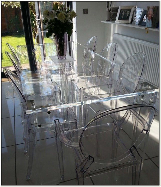 Clear Perspex Dining Table And Chairs