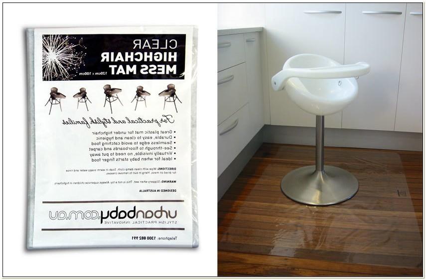 Clear Plastic High Chair Mat