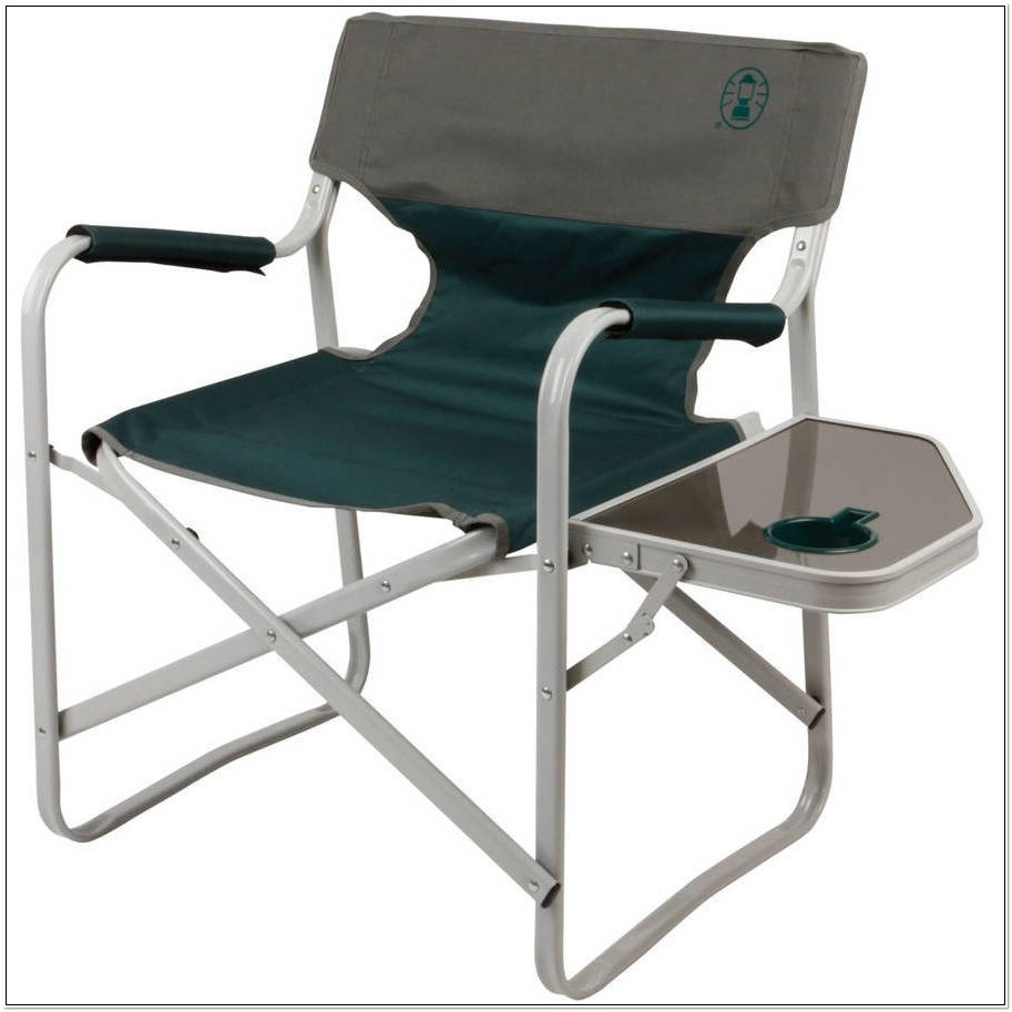 Coleman Folding Chairs With Side Table