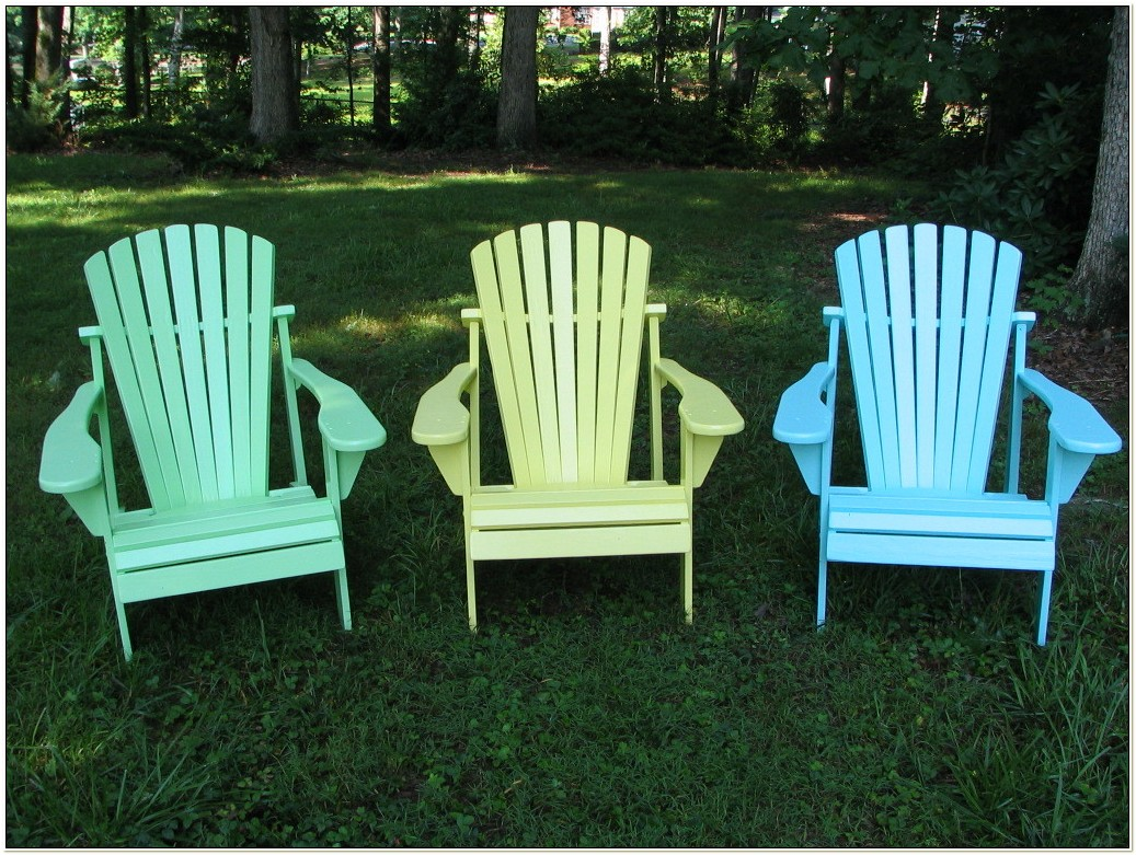 Colored Resin Adirondack Chairs