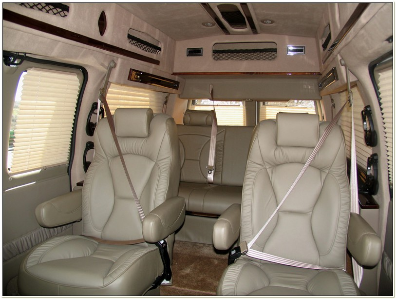 Conversion Van With 6 Captains Chairs