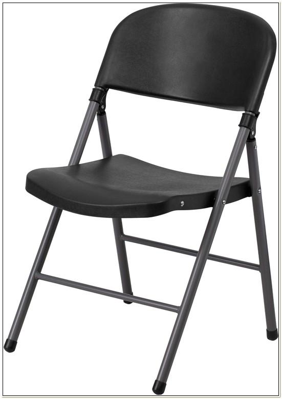 Cosco Black Vinyl Padded Folding Chairs