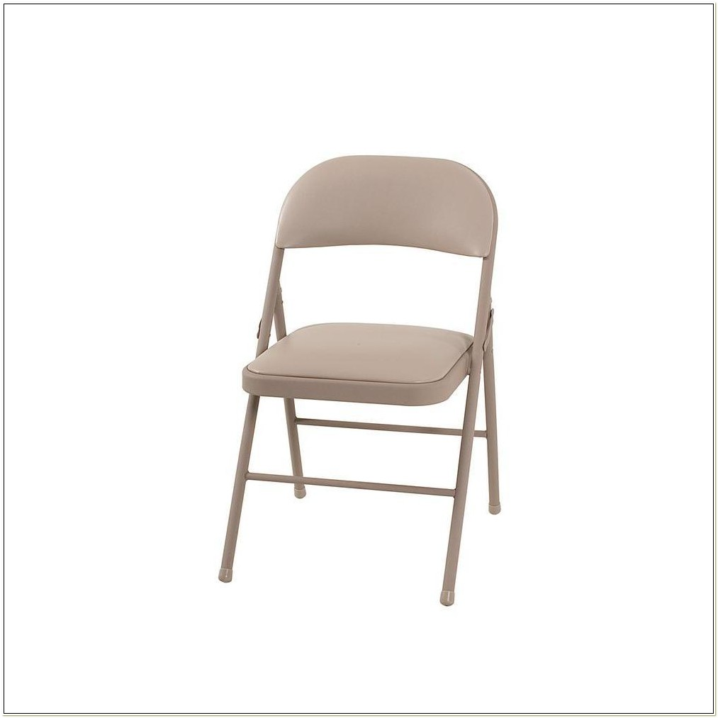 Cosco Deluxe Cushioned Vinyl Folding Chair