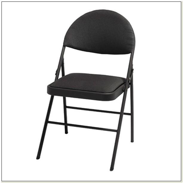 Cosco Fabric Comfort Folding Chair Black