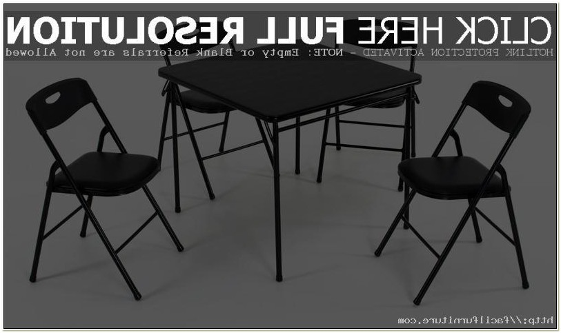 Cosco Folding Table And Chairs