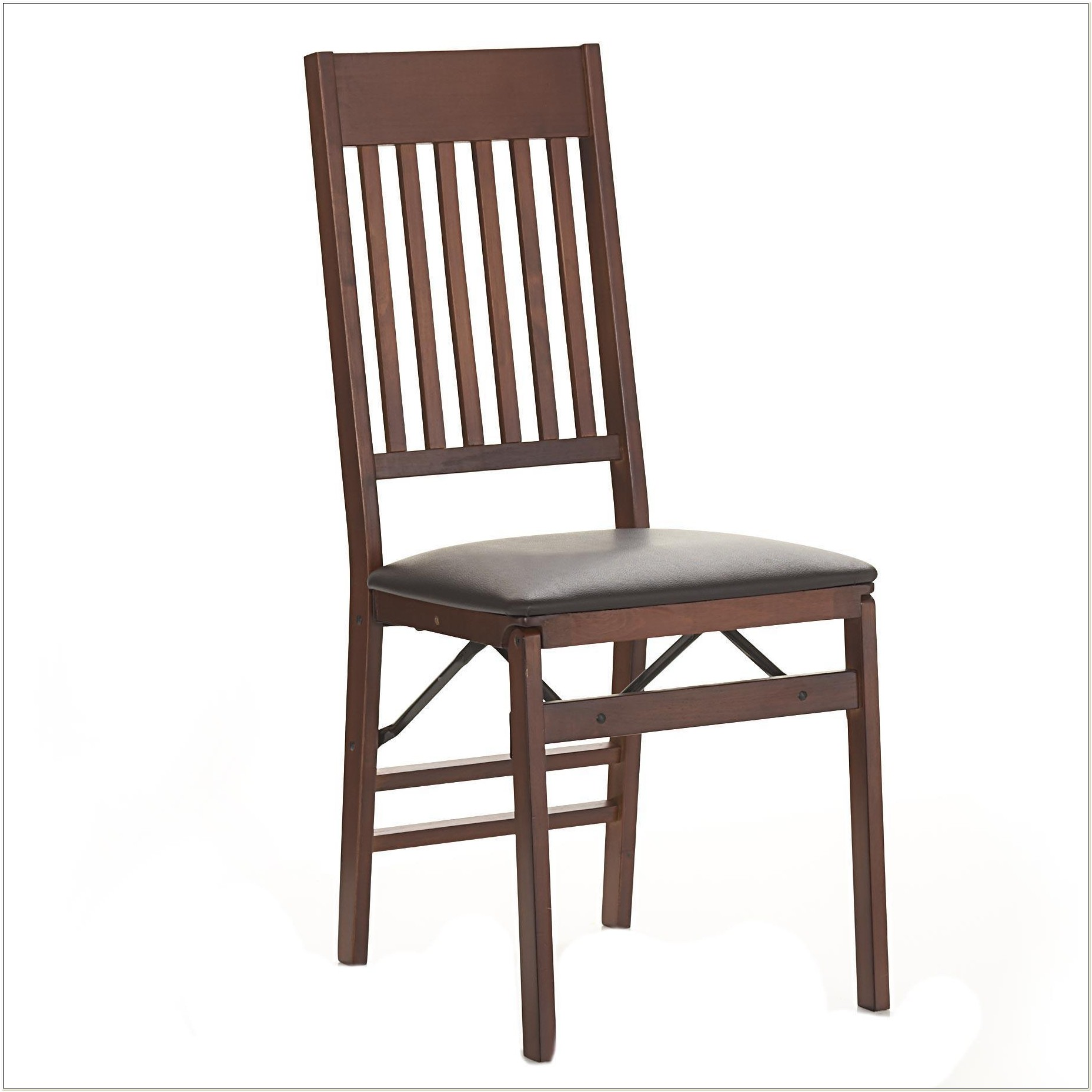 Cosco Wood Folding Chair Mission Style Back