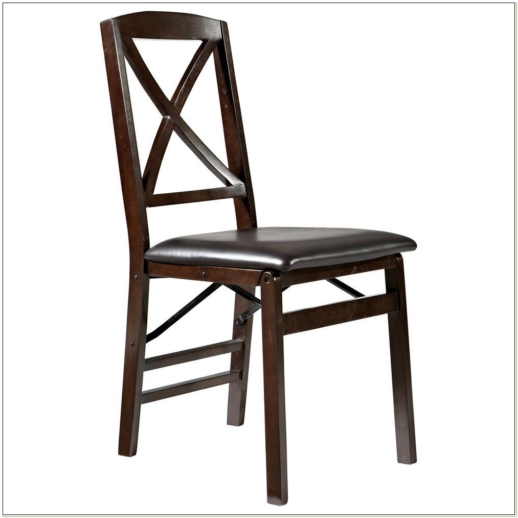 Cosco Wood Folding Chairs With Microsuede Seat