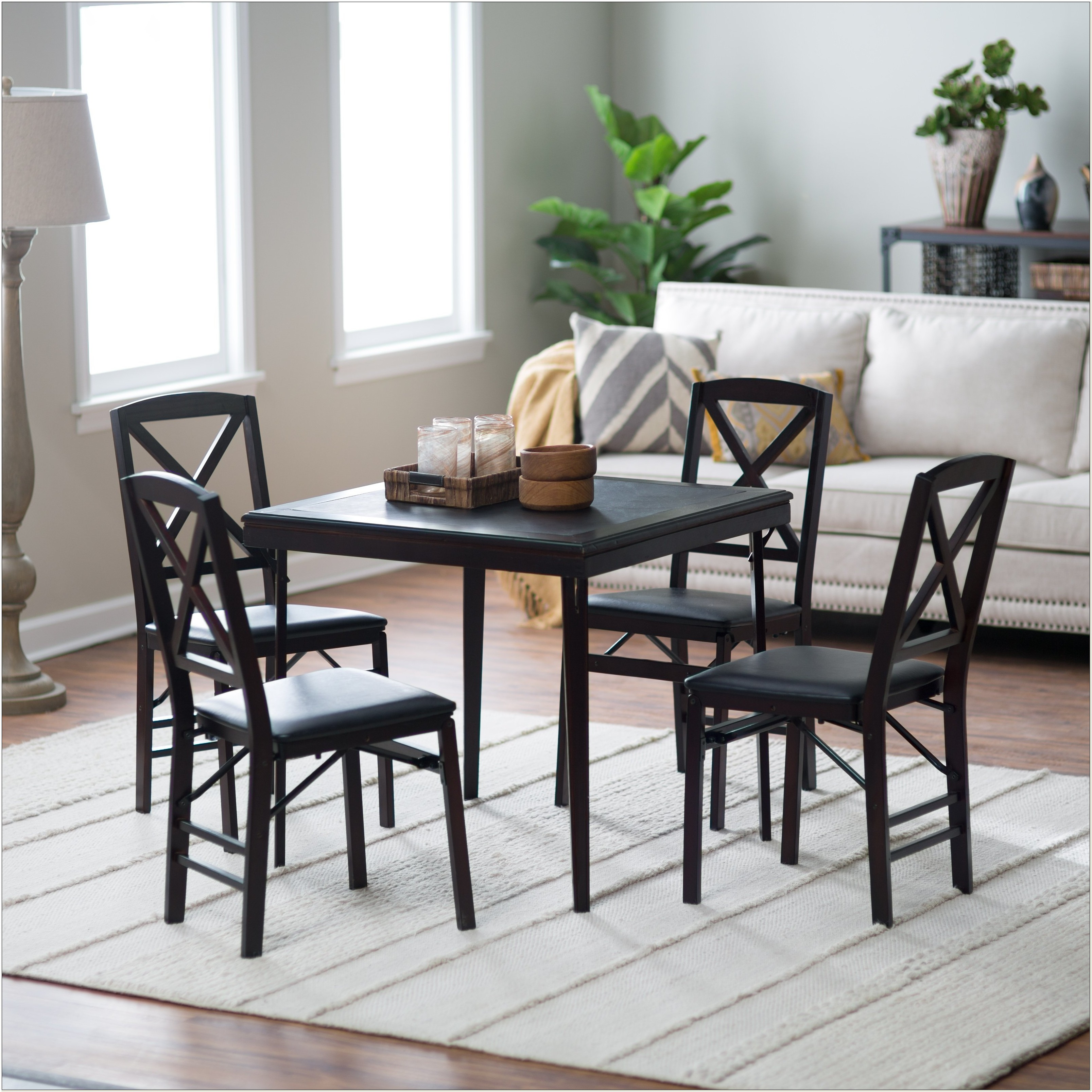 Cosco Wood Folding Table And Chairs