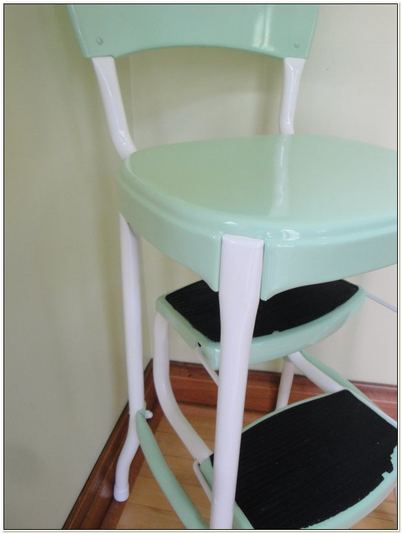 Cosco Yellow Retro Counter Chair Step Stool