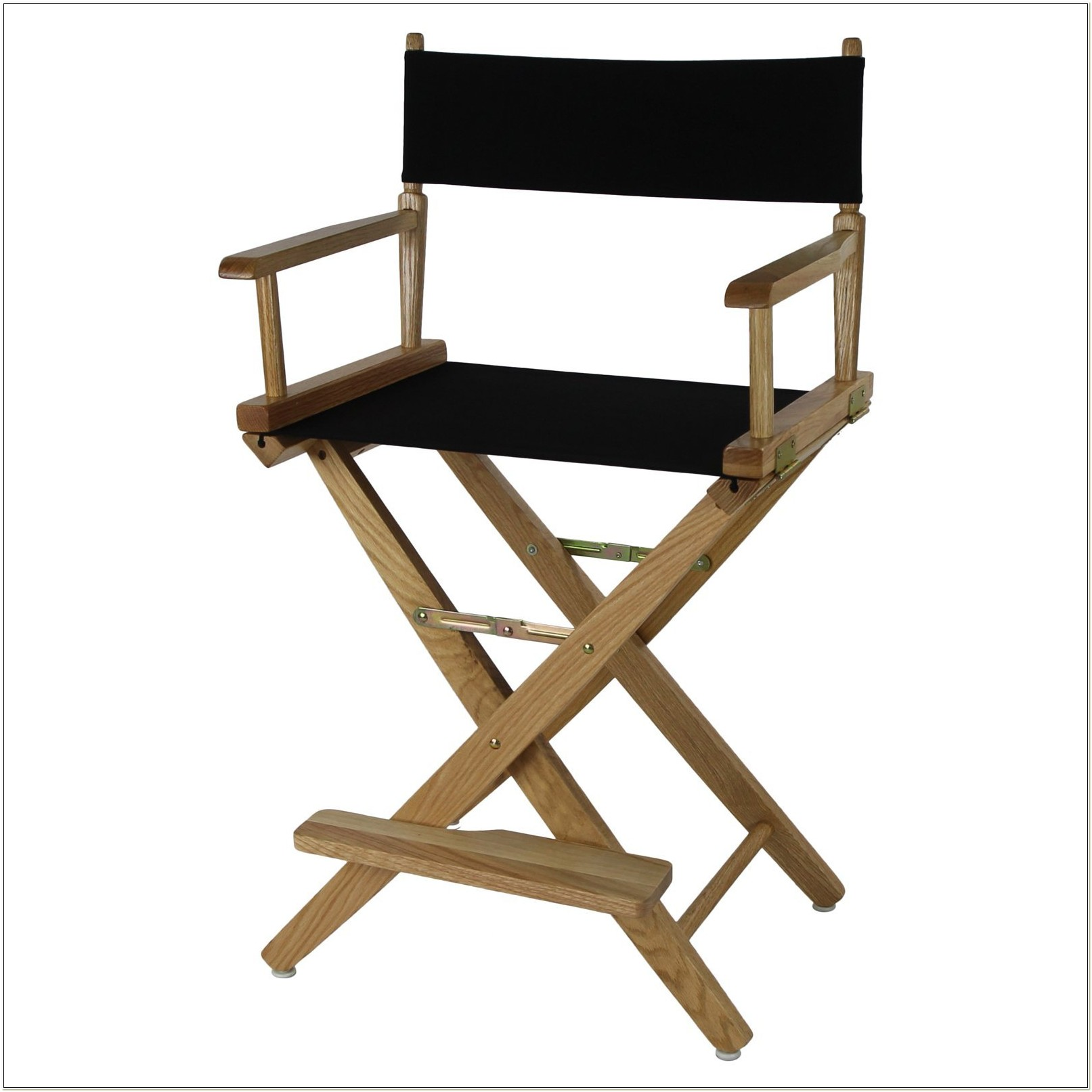 Counter Height Directors Chair Black Frame