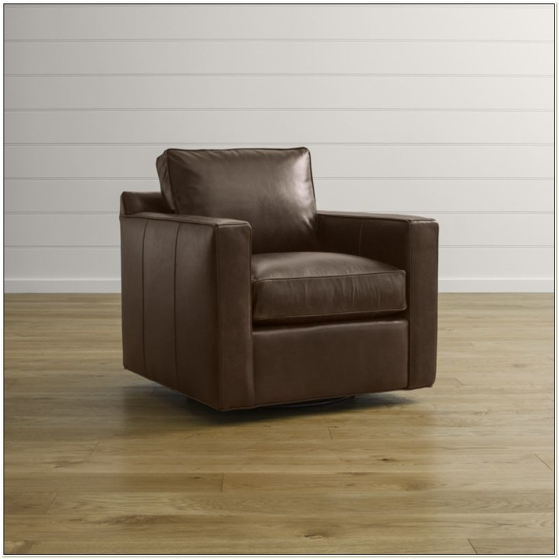 Crate And Barrel Leather Swivel Chairs