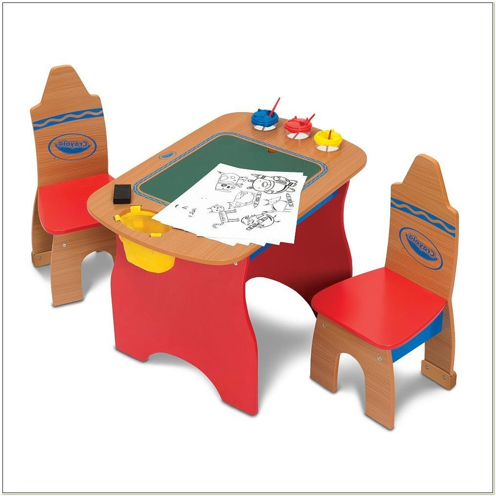 Crayola Creativity Wooden Table And Chairs Set