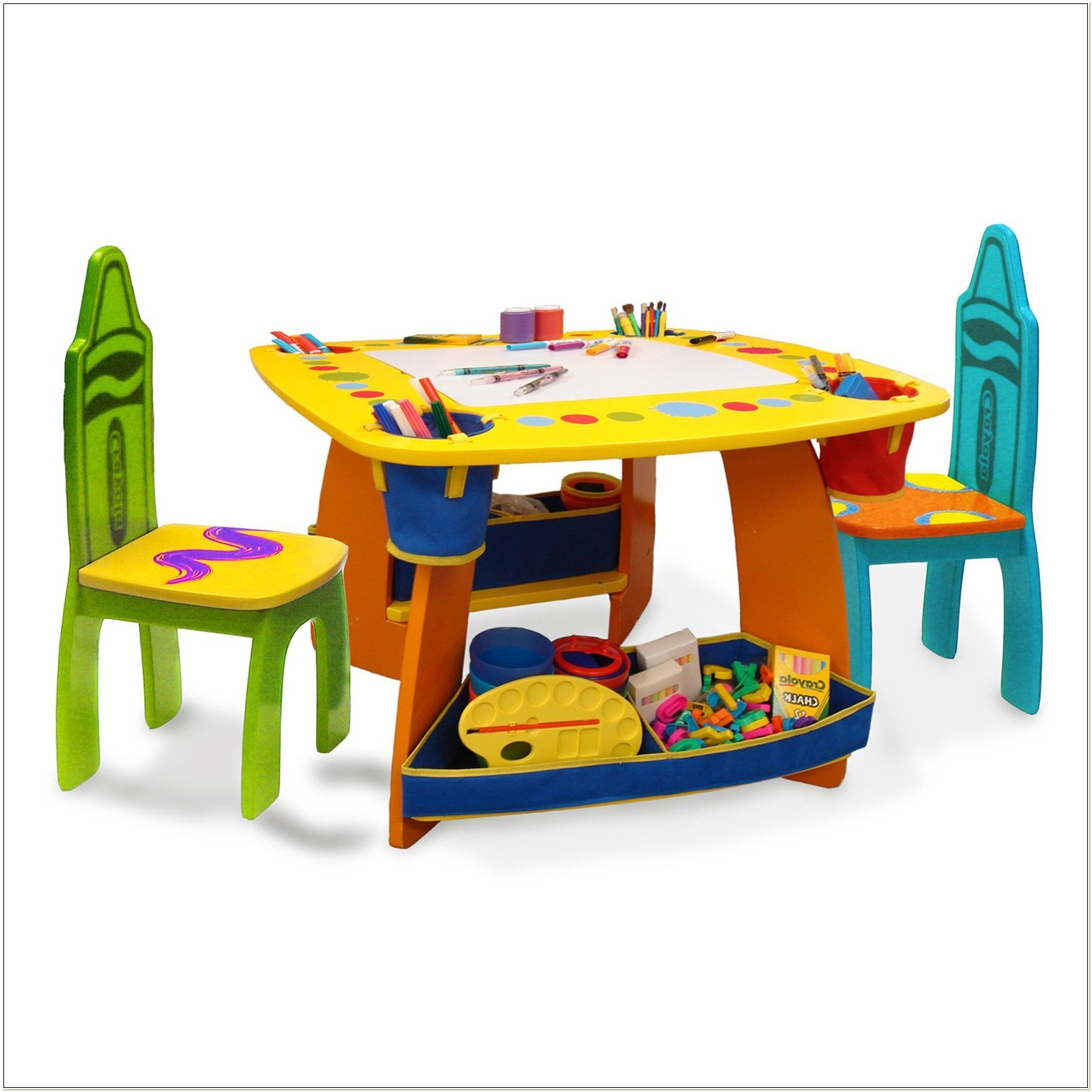 Crayola Wooden Art Table And Chairs Set